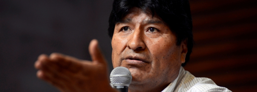 Bolivia's former President Morales and former Economy Minister Catacora attend a news conference in Buenos Aires