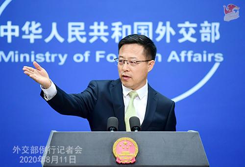 PH 1 Conférence de presse du 11 août 2020 tenue par le Porte-parole du Ministère des Affaires étrangères Zhao Lijian W020200817383667916619