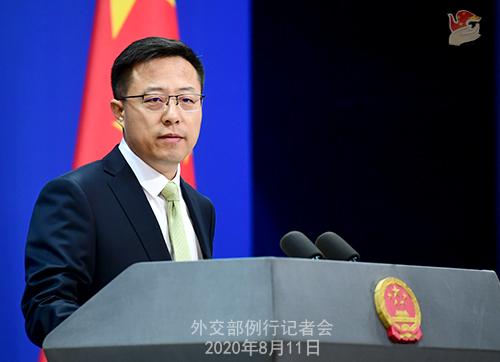 PH 3 Conférence de presse du 11 août 2020 tenue par le Porte-parole du Ministère des Affaires étrangères Zhao Lijian W020200817383667930049