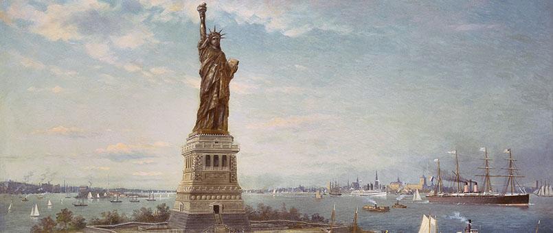 Liberty Island, New York Harbor, 1883 (oil on canvas)