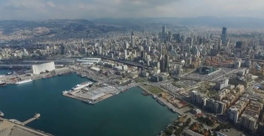Beyrouth avant l'explosion. A gauche, l'entrepôt concerné. (Photo mad) 18_Beirut_ohne_Zerstoerung