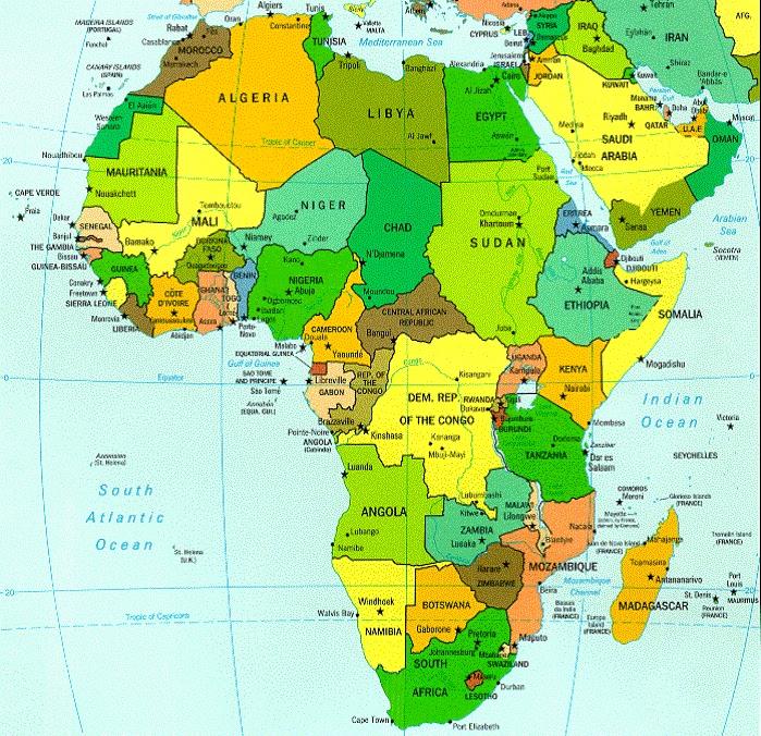 Carte-de-Afrique