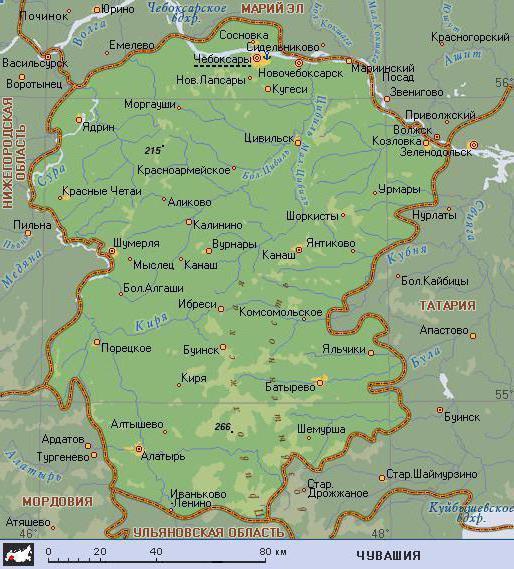 Carte de la République de Tchouvachie 3c081ede7e090ed1