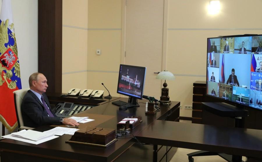 KREMLIN 1 SUR 5 DU 09.09.2020 Rencontre avec les membres du gouvernement (par vidéoconférence). qGvDK5W0MzsJZBjy8JSRdxpK6Hlxkvm1