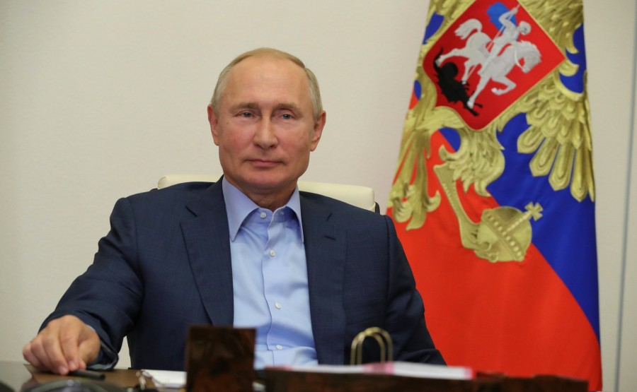 KREMLIN 1 X 6 DU 08.09.2020 Lors d'une réunion par vidéoconférence avec les lauréats du concours national de gestion Leaders of Russia. V3GFdPHLnwEsSoV91xb16VKLBDqVbiQS