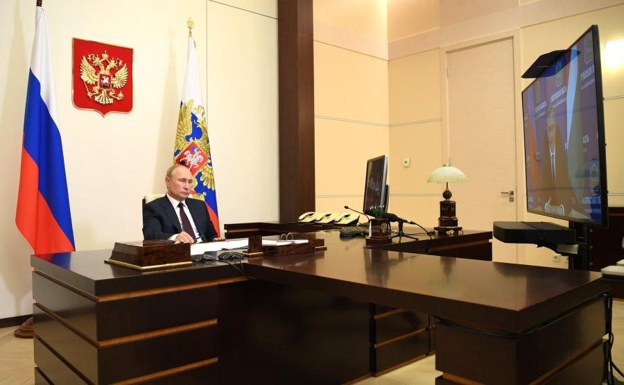 KREMLIN 3 X 4 DU 07.09.2020 Réunion de travail avec le gouverneur par intérim de la région de Kaluga, Vladislav Shapsha (par vidéoconférence). FcddoPytbBhZNzjADsju7gZHW4VuVokZ