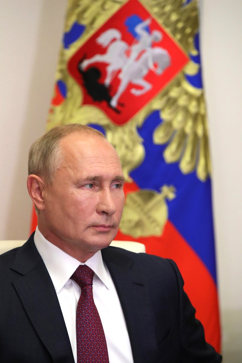 KREMLIN 5 X 5 Vladimir Poutine a assisté, par vidéoconférence, à la leçon nationale RUSSE - Se souvenir, c'est savoir. COOb4lDMXLWvHXTPBuQmTr759aX85bGU