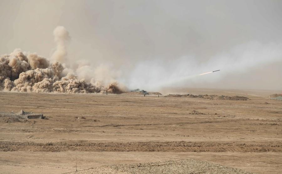 KREMLIN CAUCASE PH 14 X 17 La scène principale de l'exercice de siège stratégique Caucase-2020.