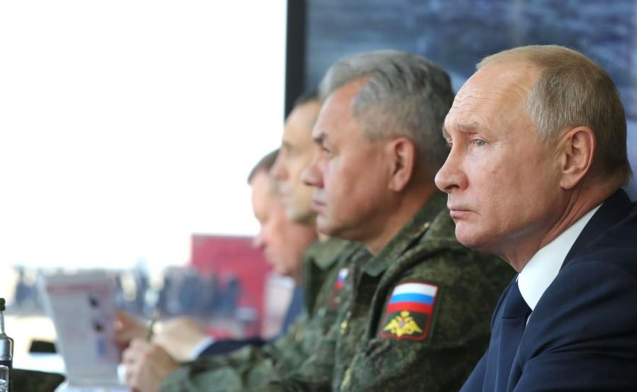 KREMLIN CAUCASE PH 15 X 17 Au centre de formation de Kapustin Yar pendant la phase principale de l'exercice du quartier général stratégique Caucase-2020.