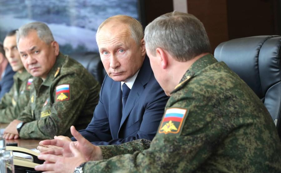 KREMLIN CAUCASE PH 2 X 17 Au centre de formation de Kapustin Yar pendant la phase principale de l'exercice du quartier général stratégique Caucase-2020.