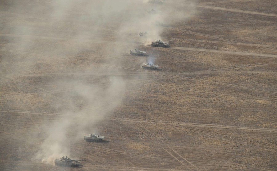 KREMLIN CAUCASE PH 5 X 17 La scène principale de l'exercice de siège stratégique Caucase-2020.