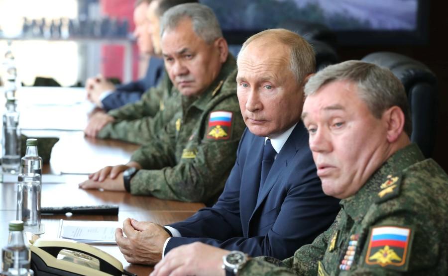 KREMLIN CAUCASE PH 7 X 17 Au centre de formation de Kapustin Yar pendant la phase principale de l'exercice de quartier général stratégique Caucase-2020