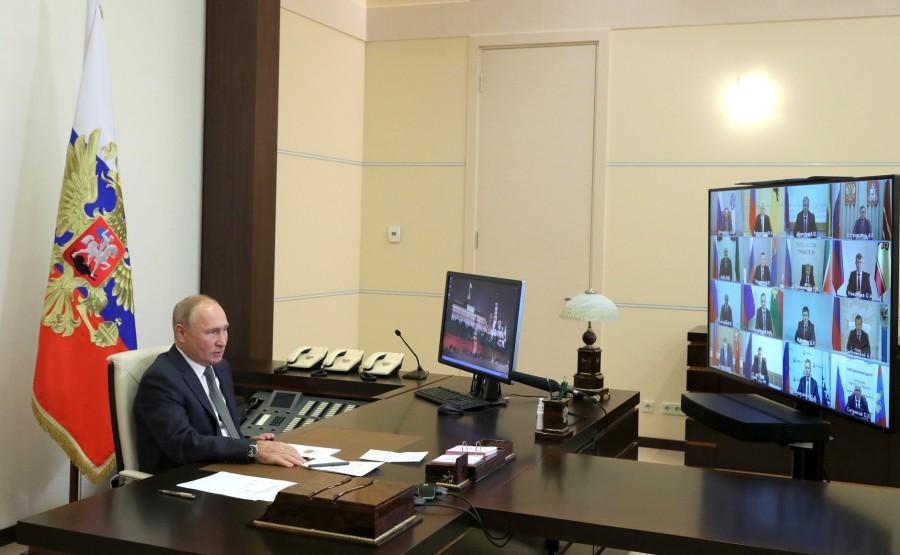kremlin electionq PH 1 X 3 Rencontre avec les responsables régionaux élus (par visioconférence). cXHo56Kepw1RvzYLYjaqgDpVPFqNIEAl