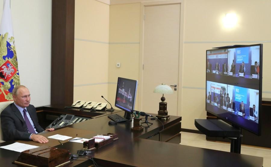 KREMLIN OCS 1 X 3 DU 09.09.2020 Réunion avec les ministres des Affaires étrangères des États membres de l'Organisation de coopération de Shanghai (OCS) (par vidéoconférence). wh3kkQ6NQsMXXQABG3V6P9W7AZHceZFB