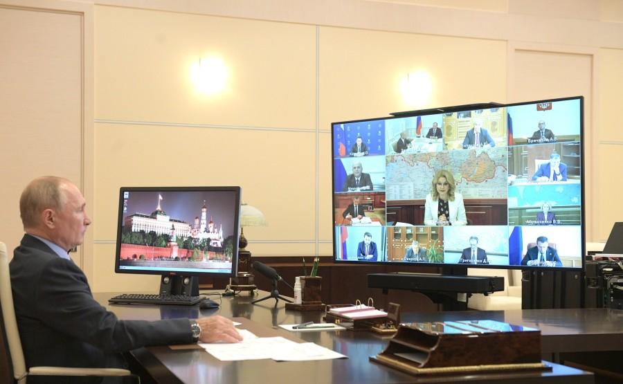 kremlin PH 1 X 6 GOUVERNEMENT 20.09.2020 Rencontre avec les membres du gouvernement (par vidéoconférence). s2qYrxVUZhL2M63NLLatxjUAPumyAe9m