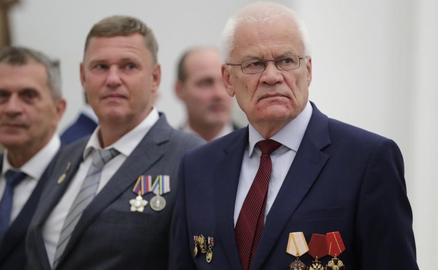 KREMLIN PH 2 X 21 Conseiller de recherche du Centre nucléaire fédéral russe - Institut panrusse de recherche Zababakhin en génie physique et président du Conseil scientifique et technique de Rosatom Georgy Rykovanov (à droite)