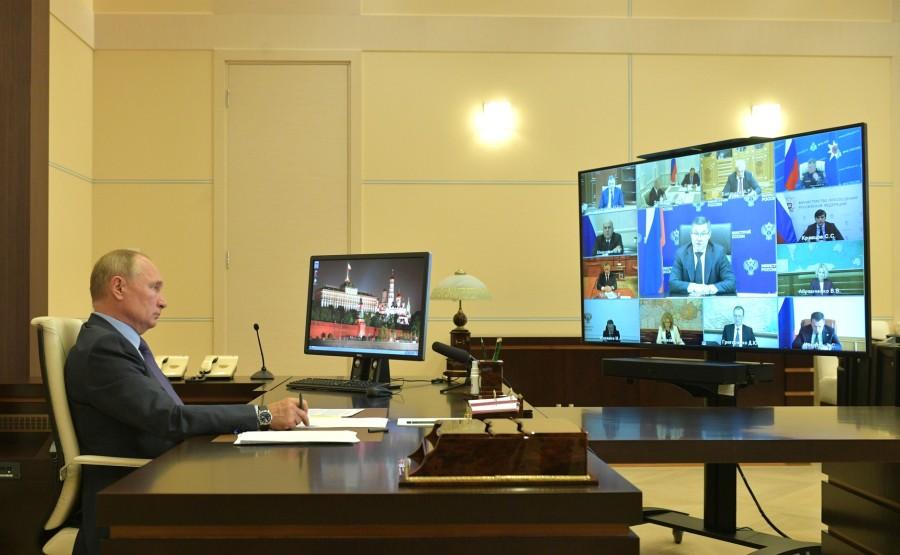kremlin PH 6 X 6 GOUVERNEMENT 20.09.2020 Rencontre avec les membres du gouvernement (par vidéoconférence). PF8kyuThLsY2eaP2v7HlquLb1sgox6wc