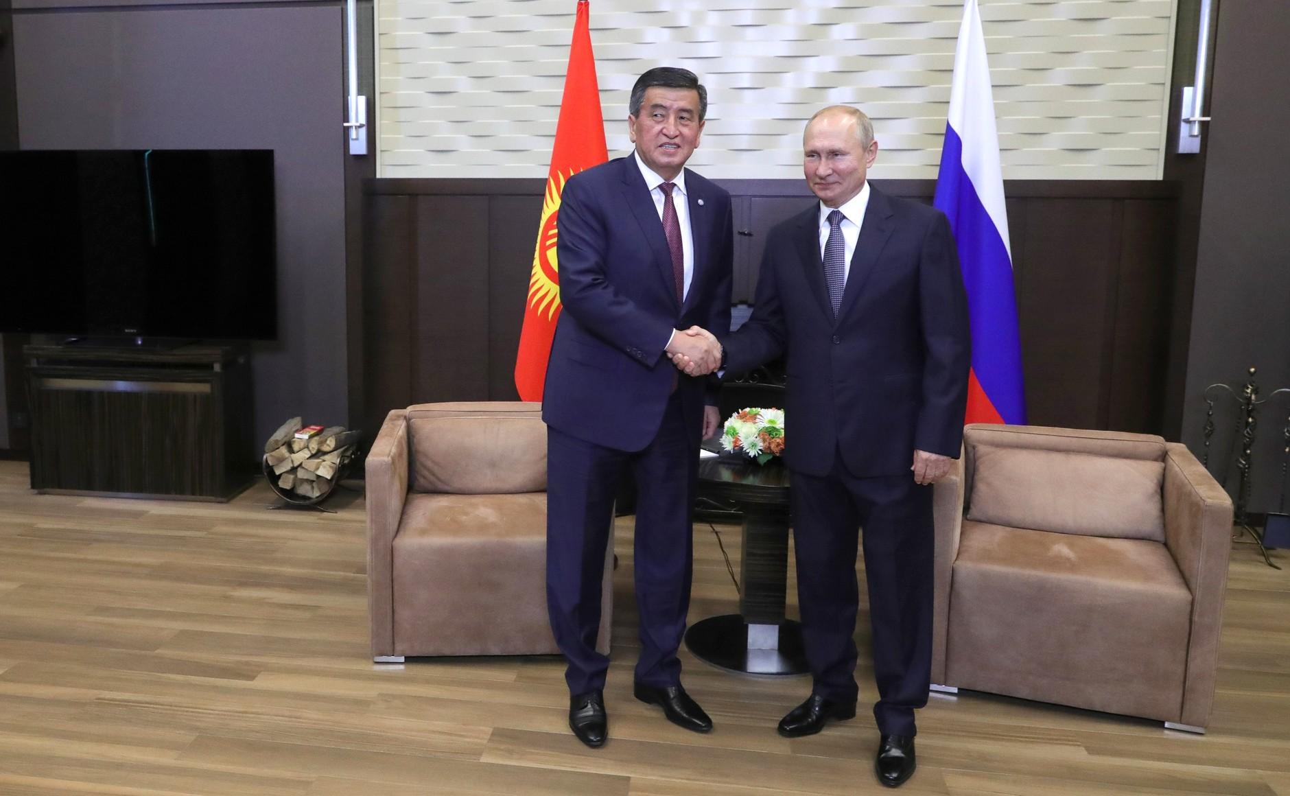 KREMLIN SOCHI PH 2 X 3 DU 28.09.2020 Avec le président de la République kirghize Sooronbay Jeenbekov. MGbosewOKQZHtow4cWJaOsZ7rTylqSjV