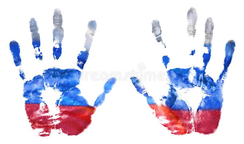 l-empreinte-des-mains-des-couleurs-russes-de-drapeau-le-drapeau-de-la-fédération-de-russie-93524993