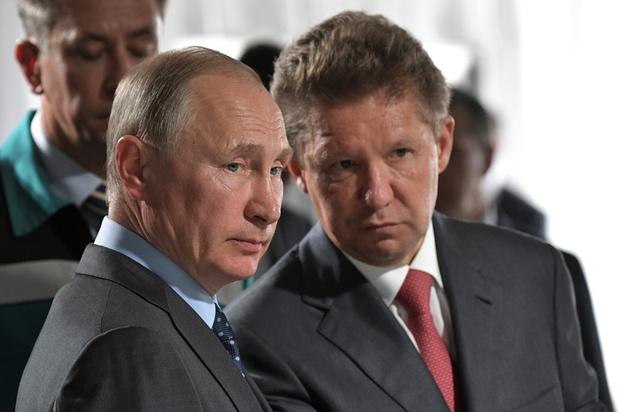 RUSSIE GAZPROM Le président russe Vladimir Poutine avec le patron du géant gazier russe Gazprom, Alexeï Miller. Crédit DR Poutine