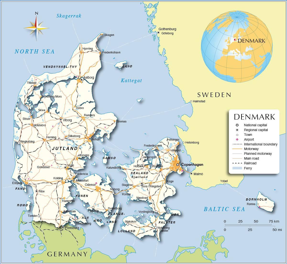 carte-politique-danemark