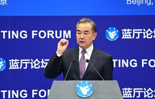 chine 2 -- 28.09.2020 Wang Yi prononce un discours lors de la cérémonie d'ouverture du Forum Lanting sur l'ordre international et la gouvernance mondiale dans l'ère post-Covid-19