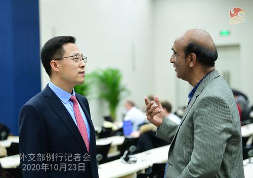 CHINE LIJIAN PH 5 Conférence de presse du 23 octobre 2020 tenue par le porte-parole du Ministère des Affaires étrangères Zhao Lijian