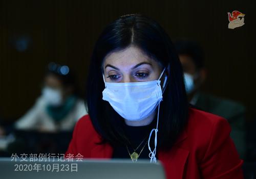 CHINE LIJIAN PH 6 Conférence de presse du 23 octobre 2020 tenue par le porte-parole du Ministère des Affaires étrangères Zhao Lijian