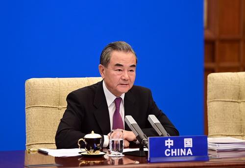 CHINE PH 2 Le Conseiller d'Etat et Ministre des Affaires étrangères Wang Yi de haut niveau sur la réduction de la pauvreté et la coopération Sud-Sud et prononce un discours du 29.09.2020