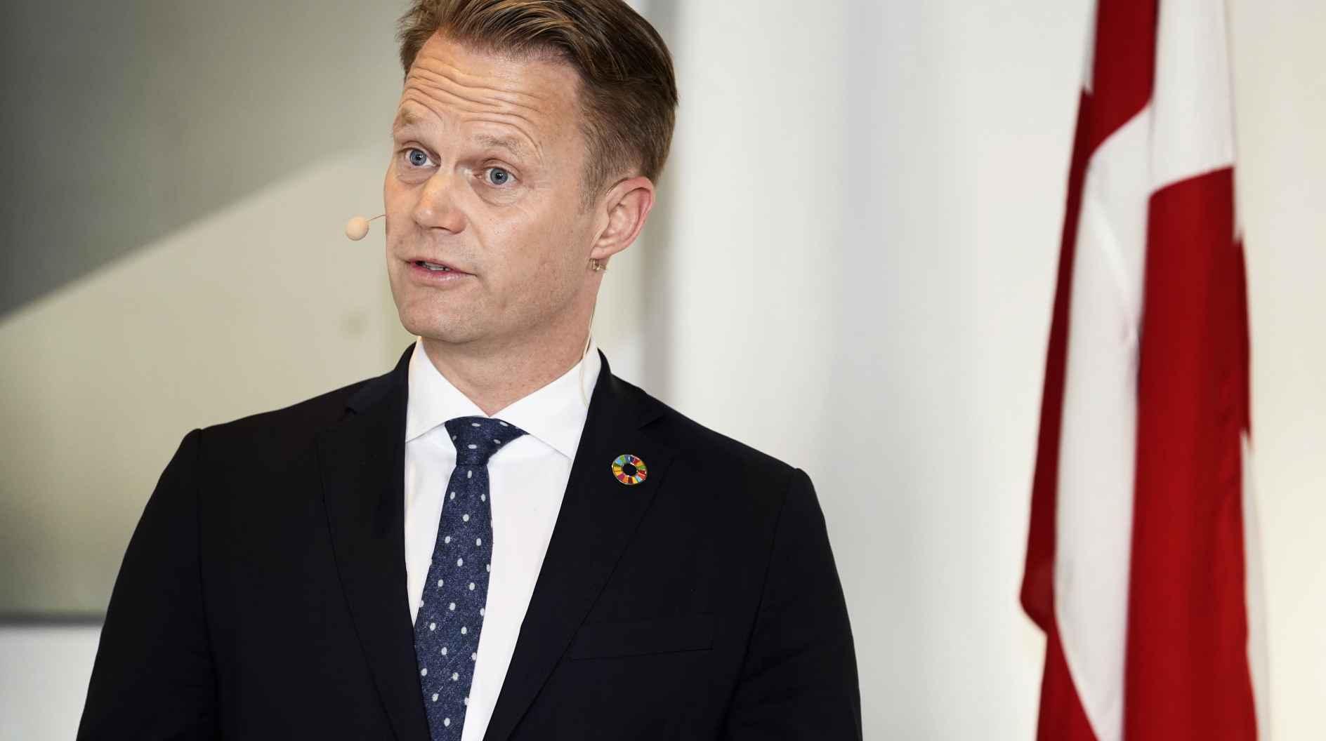 danemark Le ministre danois des Affaires étrangères, Jeppe Kofod