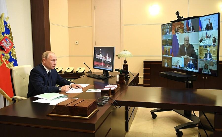 GOUV. KREMLIN PH 1 XX 4 Rencontre avec les membres du gouvernement - 28 octobre 2020