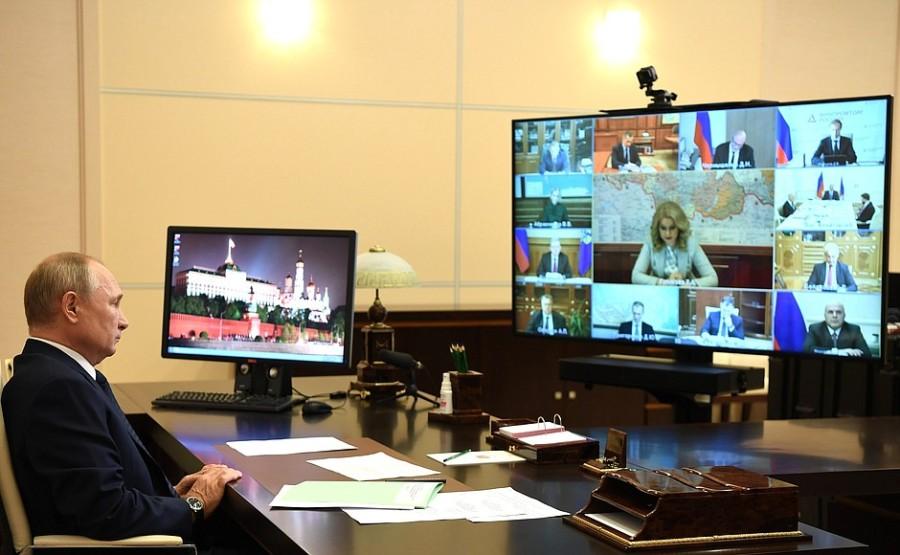 GOUV. KREMLIN PH 4 XX 4 Rencontre avec les membres du gouvernement - 28 octobre 2020