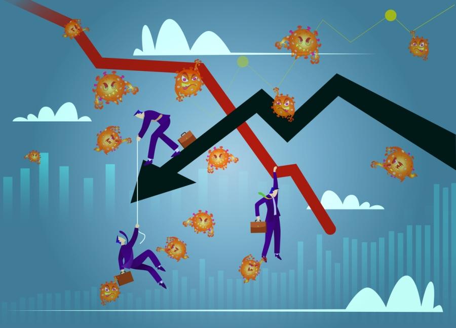 Stock Markets plunge from novel COVID-19 virus fear.