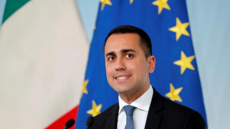 ITALIE Luigi Di Maio, Ministre des Affaires étrangères et de la Coopération internationale de l'Italie