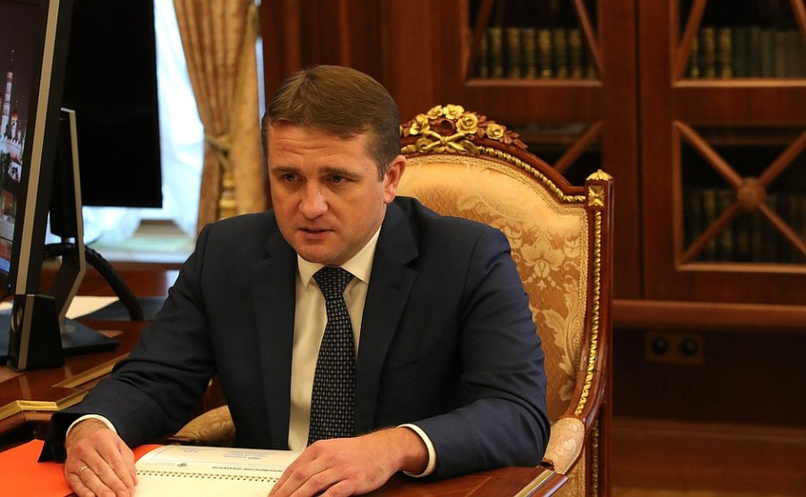 KREMLIN 19.10.2020 PH 4 X 4 Rencontre avec le chef de l'Agence fédérale des pêches Ilya Chestakov - 19 octobre 2020