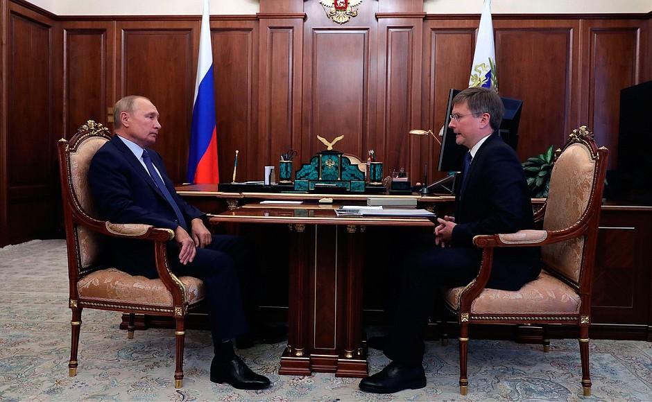 KREMLIN PH 2 X 3 12.OCT.2020 Rencontre avec le PDG d'ALROSA, Sergueï Ivanov.