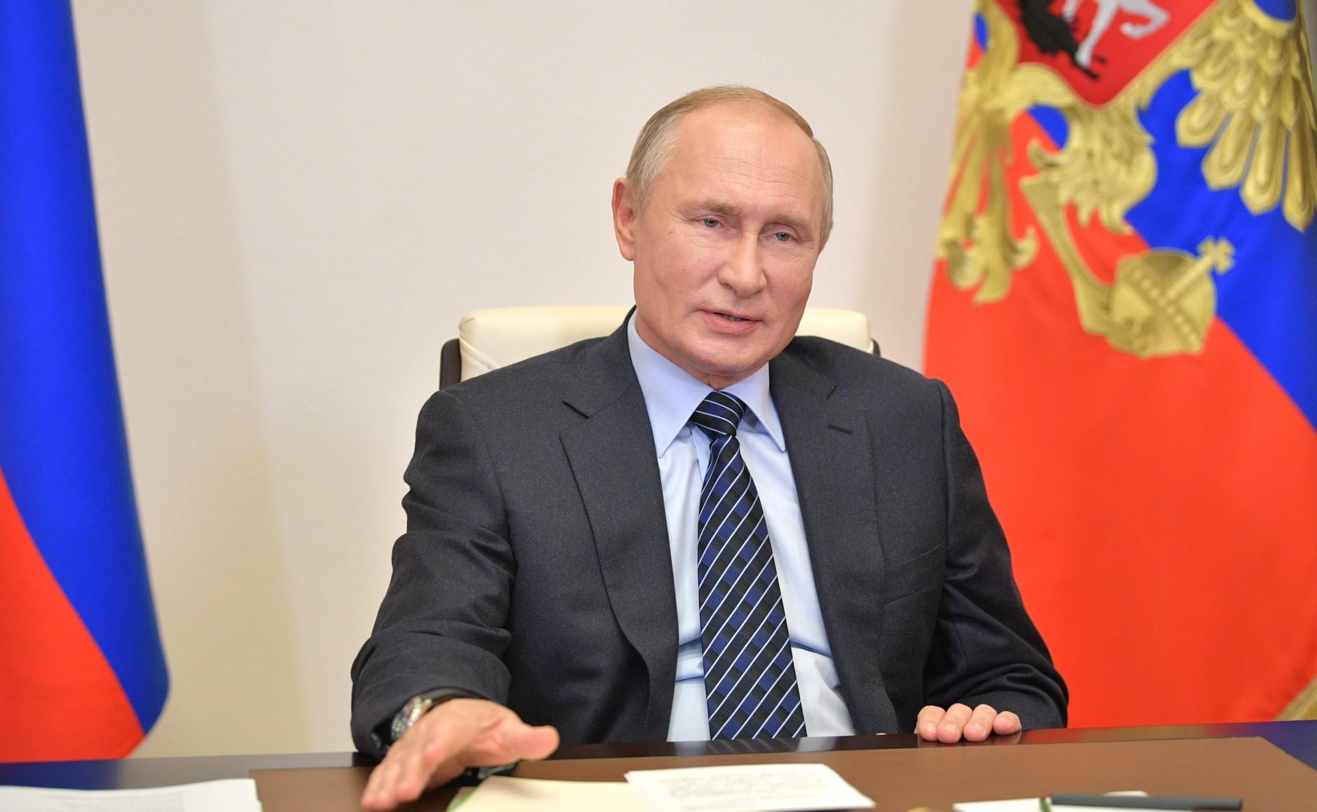 KREMLIN PH 3 XX 3 DU 21.10.2020. Rencontre avec des membres du conseil d'administration de l'Union russe des industriels et entrepreneurs (par vidéoconférence).