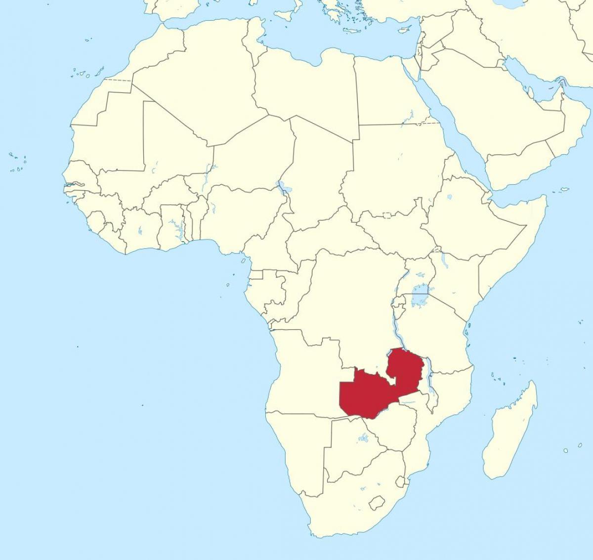 la-zambie-afrique-carte