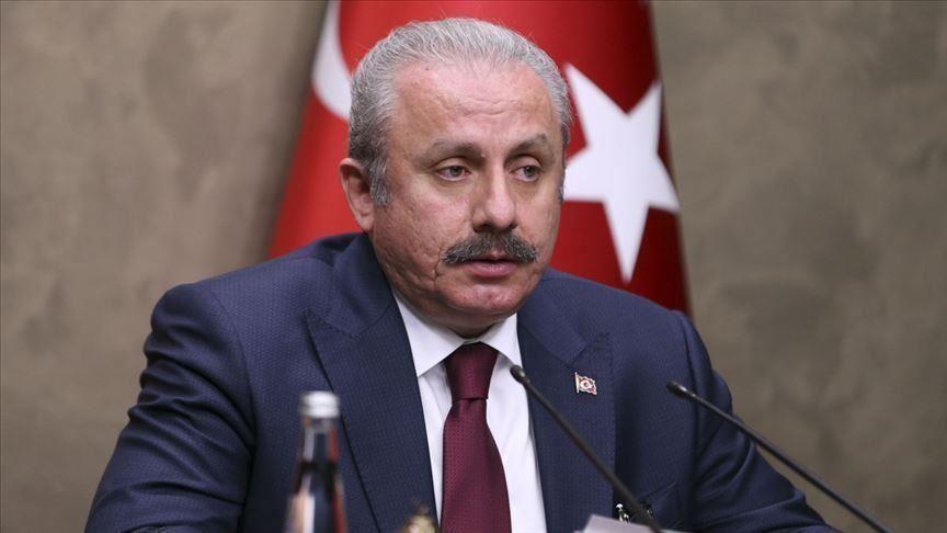 le président du parlement turc Mustafa Sentop