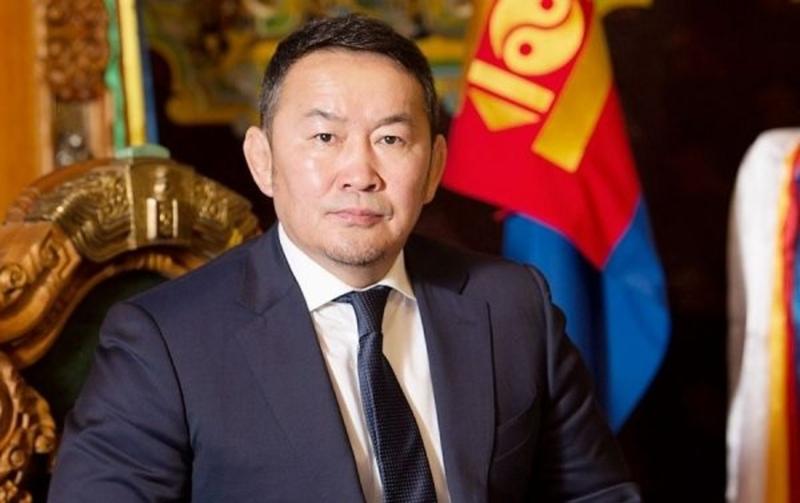 MONGOLIE Le Président de la Mongolie Khaltmaagiin Battulga