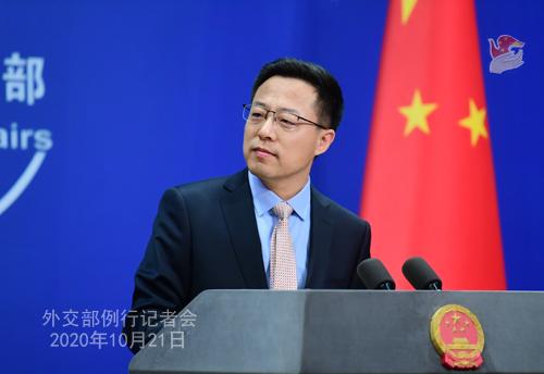 PH 2 Conférence de presse du 21 octobre 2020 tenue par le porte-parole du Ministère des Affaires étrangères Zhao Lijian