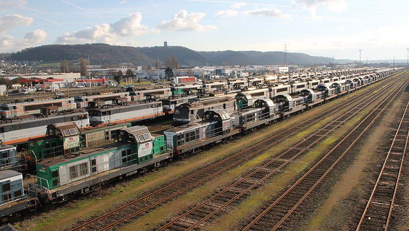 PH 4 La fausse relance ferroviaire de Macron800px-Un_aspect_du_triage_de_Sotteville_en_janvier_2012