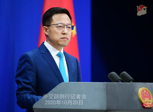 PPH 3 Conférence de presse du 20 octobre 2020 tenue par le porte-parole du Ministère des Affaires étrangères Zhao Lijian
