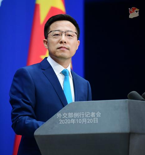 PPH 4 Conférence de presse du 20 octobre 2020 tenue par le porte-parole du Ministère des Affaires étrangères Zhao Lijian