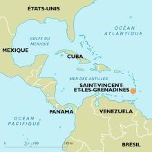 Saint-Vincent et les Grenadines EMPLACEMENT