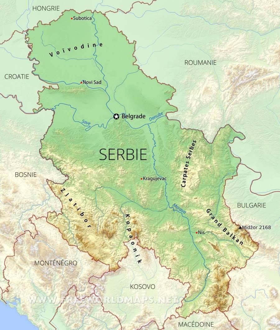 serbie-carte