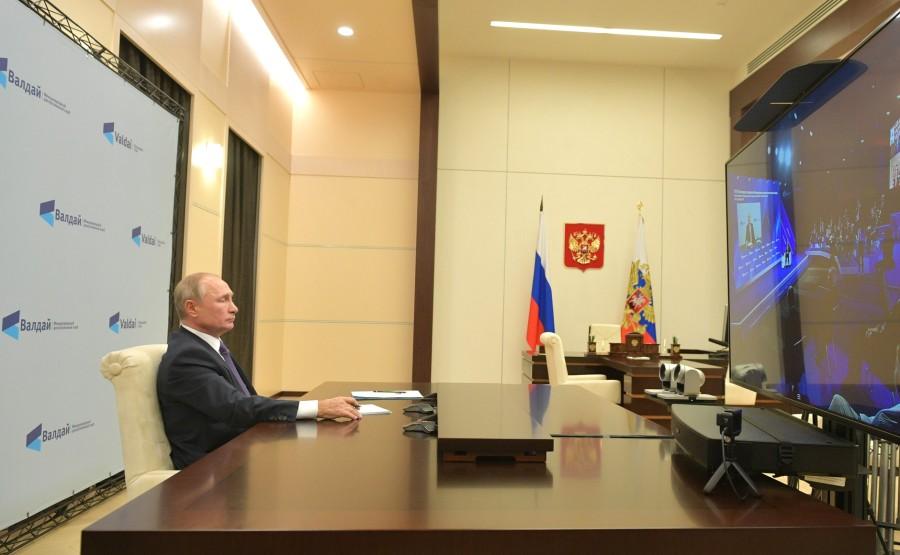 VALDAÏ PH 1 XX 5 DU 22.10.2020 Session plénière de la 17e réunion annuelle du Valdai International Discussion Club (par visioconférence).