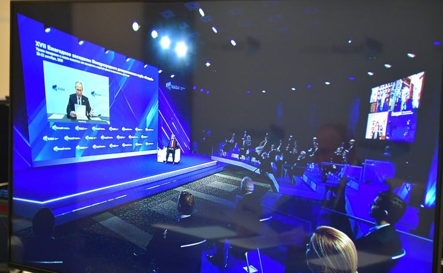 VALDAÏ PH 3 XX 5 DU 22.10.2020 Session plénière de la 17e réunion annuelle du Valdai International Discussion Club (par visioconférence).