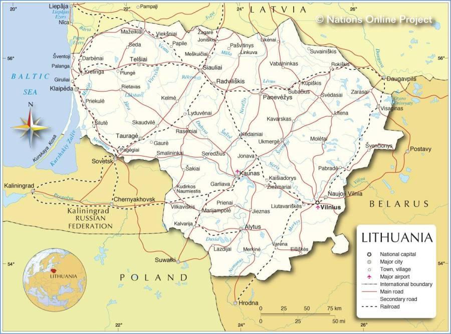 carte-geographique-lituanie