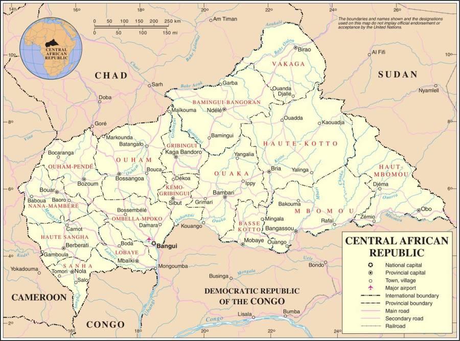 centrafrique-carte